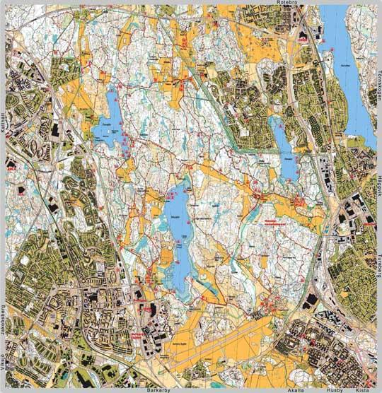 järvafältet karta Fritidskarta Norra Järvafältet järvafältet karta